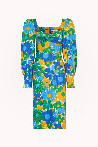 Sunday Floral Cuff Sleeve Midi Dress | Final Sale