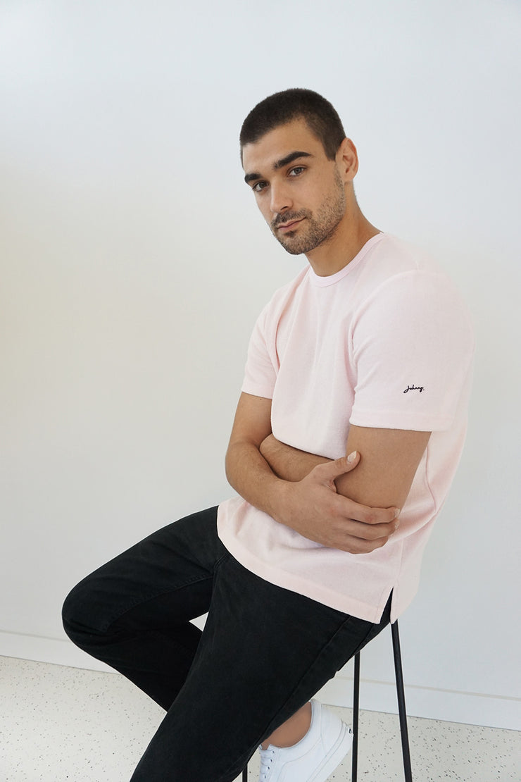 The Unisex Terry Tee - Terry Pink