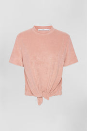 Terry Tie Tee - Pink | Final Sale