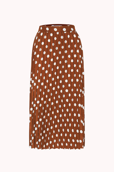 Tessa Spot Pleated Midi Skirt | Final Sale