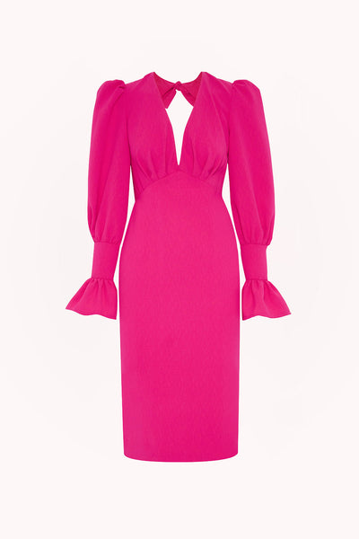 Tie Back Tulip Sleeve Midi Dress | Final Sale