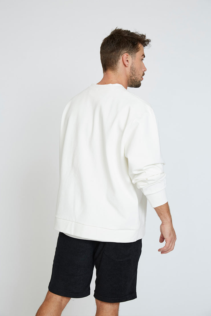Signature Crew Sweat - White/Black