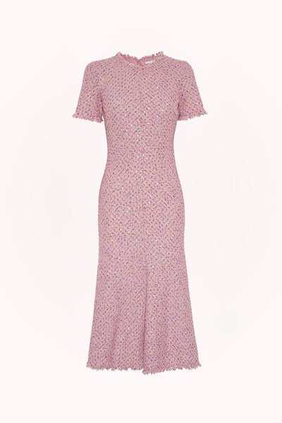 Zoe Tweed Bias Midi Dress