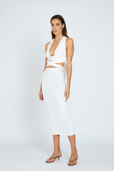 Koa Ankle Skirt - White