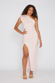 One Shoulder Jasmine - Pale Pink