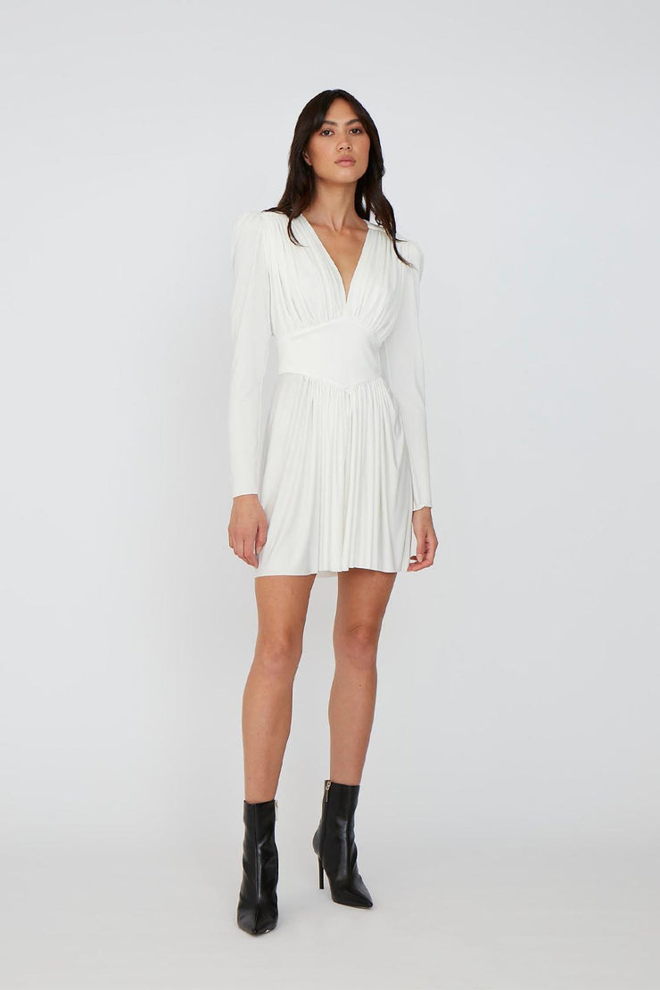 Mila May Sleeve Mini Dress - Ivory