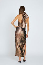 Carmen Gather Skirt - Bronze | Final Sale