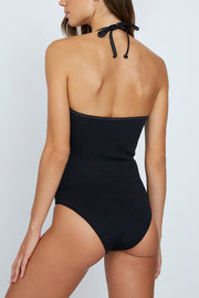 The Penny Tie Up One Piece - Black