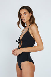 The Penny Tie Up One Piece - Black | Final Sale