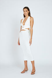 Kay Wrap Top - White | Final Sale