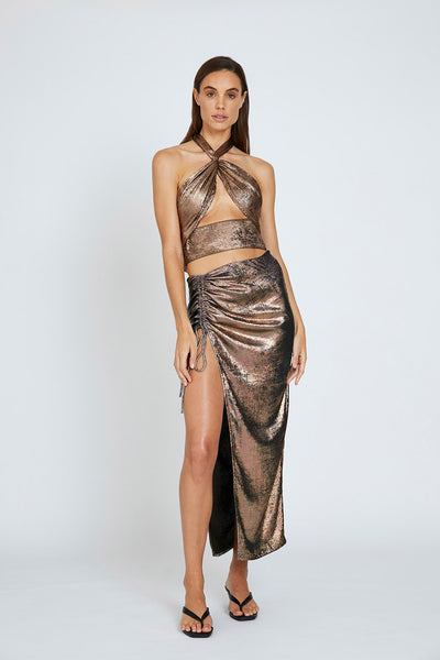 Carmen Gather Skirt - Bronze