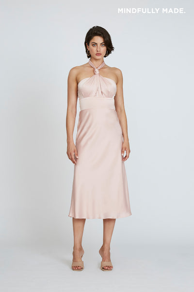 Delilah Knot Neck Midi Dress