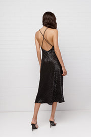 Night Shine Cross Back Midi Dress