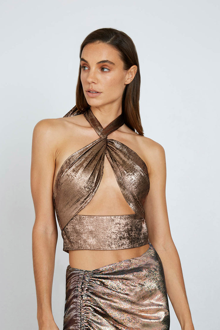 Carmen Cross Body Top - Bronze | Final Sale