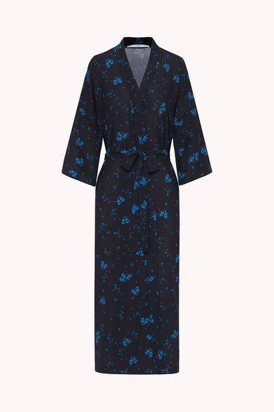 The Johnny Robe - Dark Blue Floral