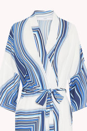 The Johnny Robe - Blue Stripe Scarf