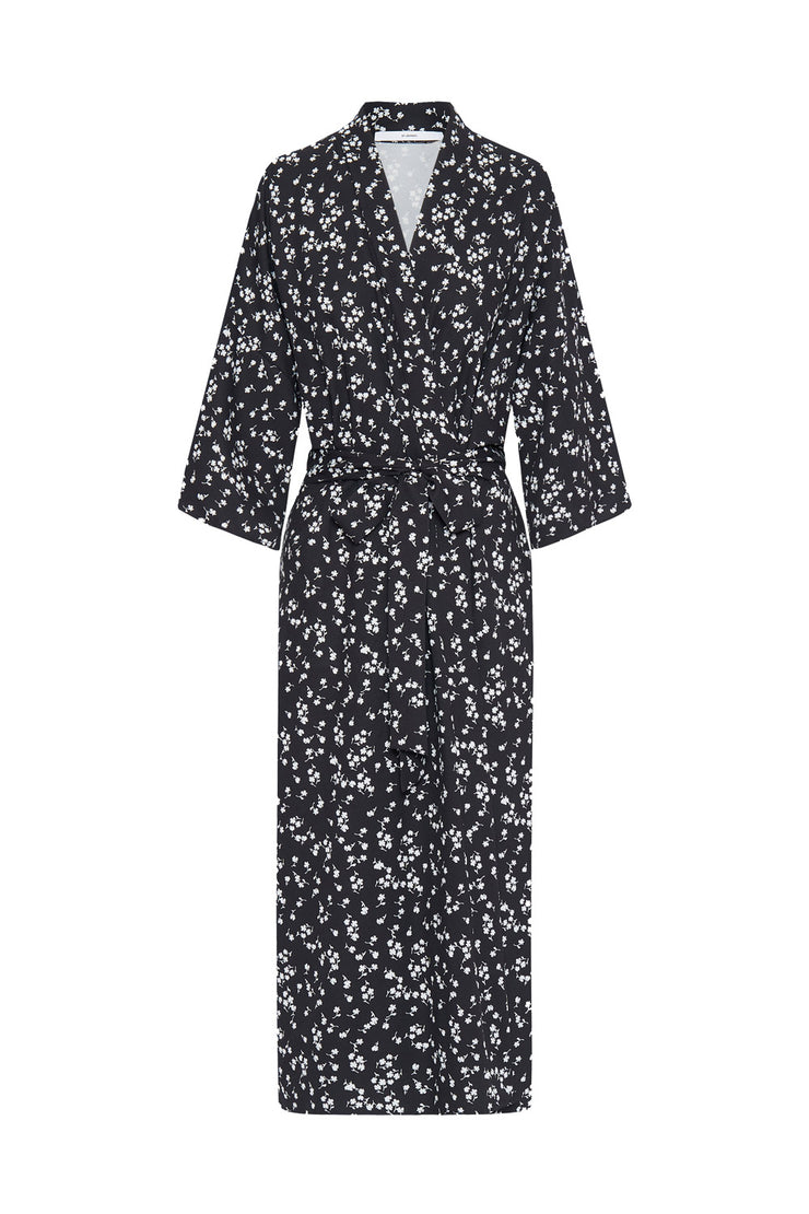 The Johnny Robe - Black White Floral