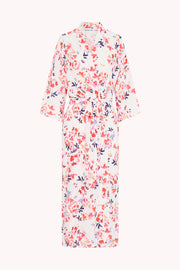 The Johnny Robe - White Pink Floral