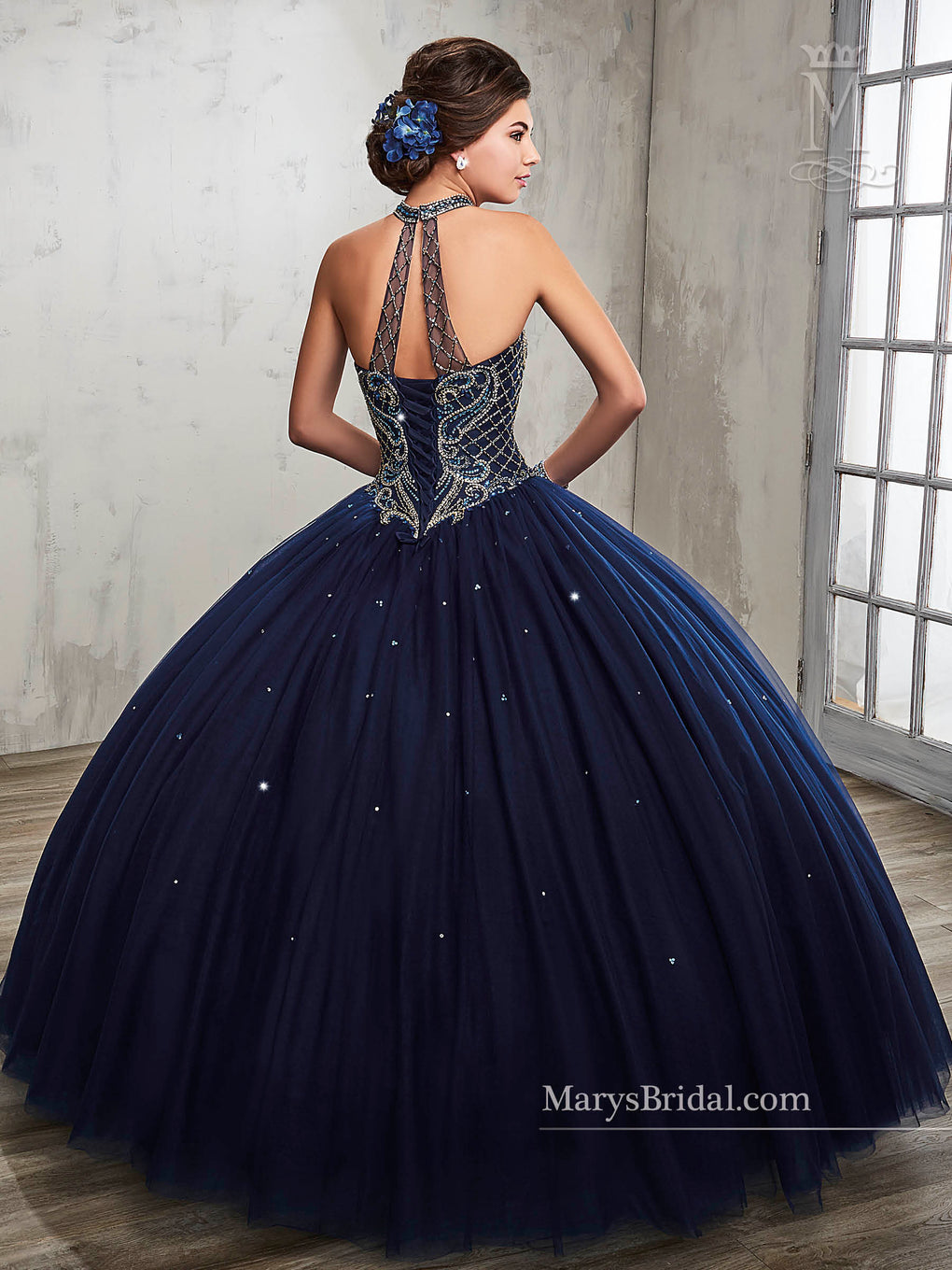 Marys Quinceanera Dresses in Dark Navy, Dark Burgundy, White Color