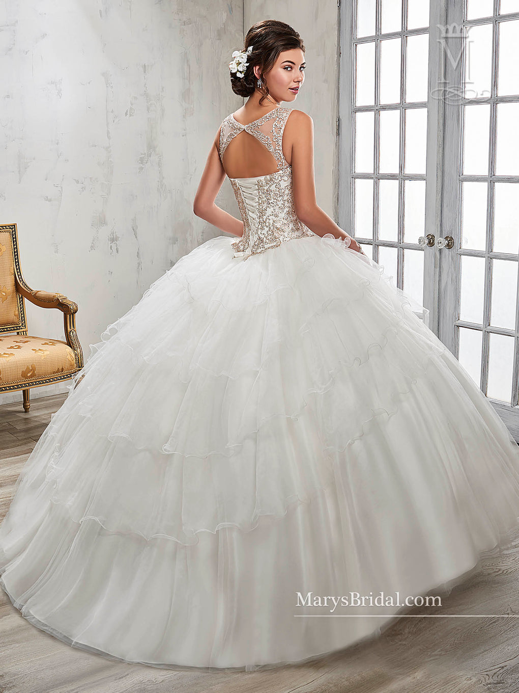 Marys Quinceanera Dresses in Ivory, Pink Color