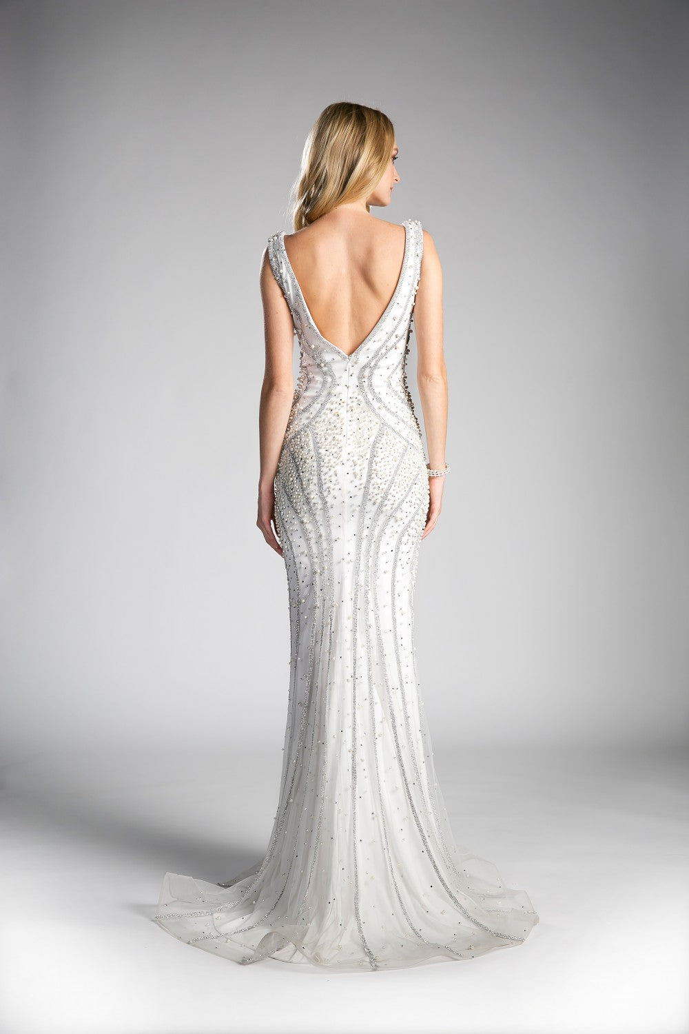 Beaded Sheath Gown