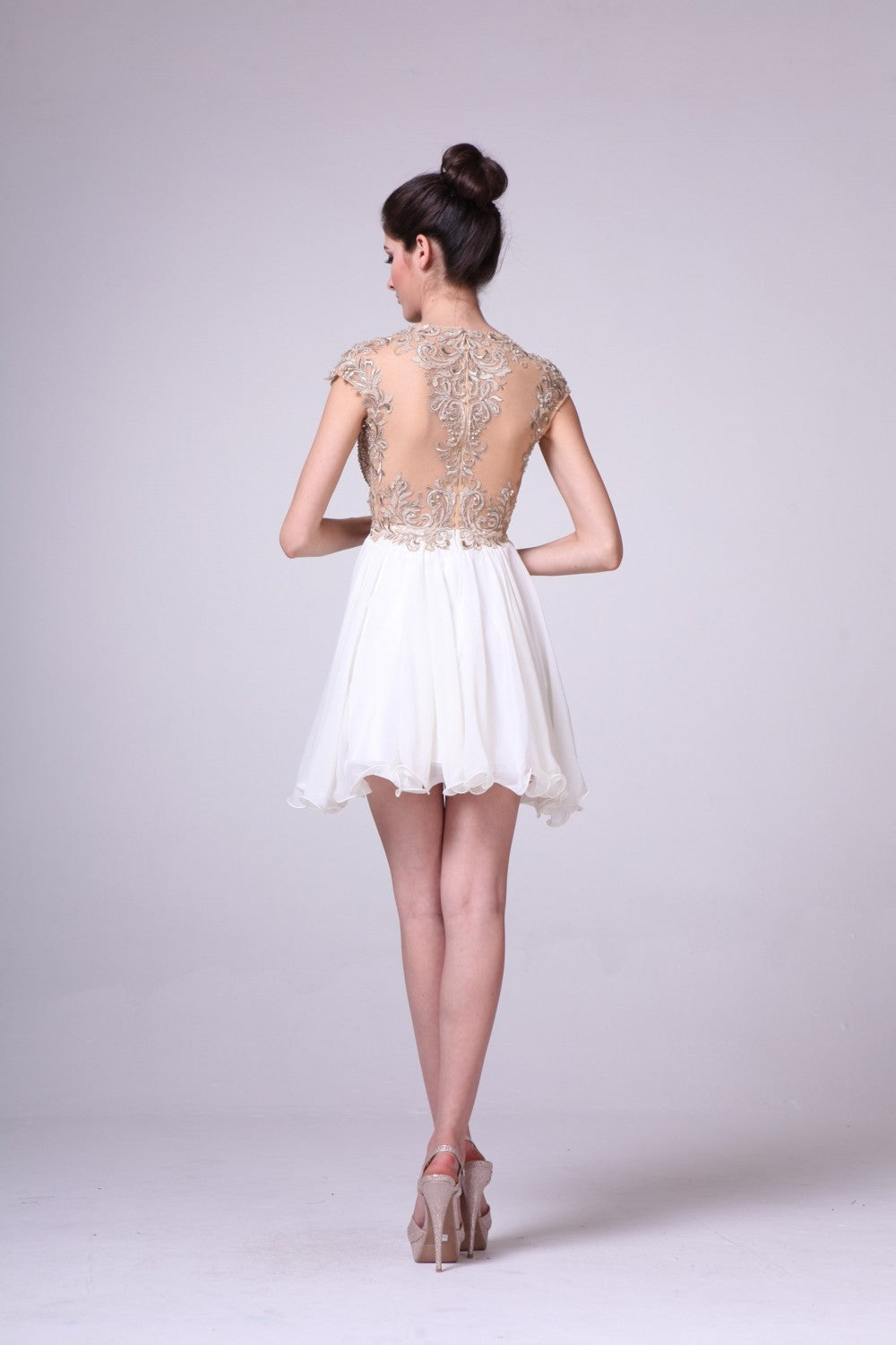 Lace Bodice Short Dress