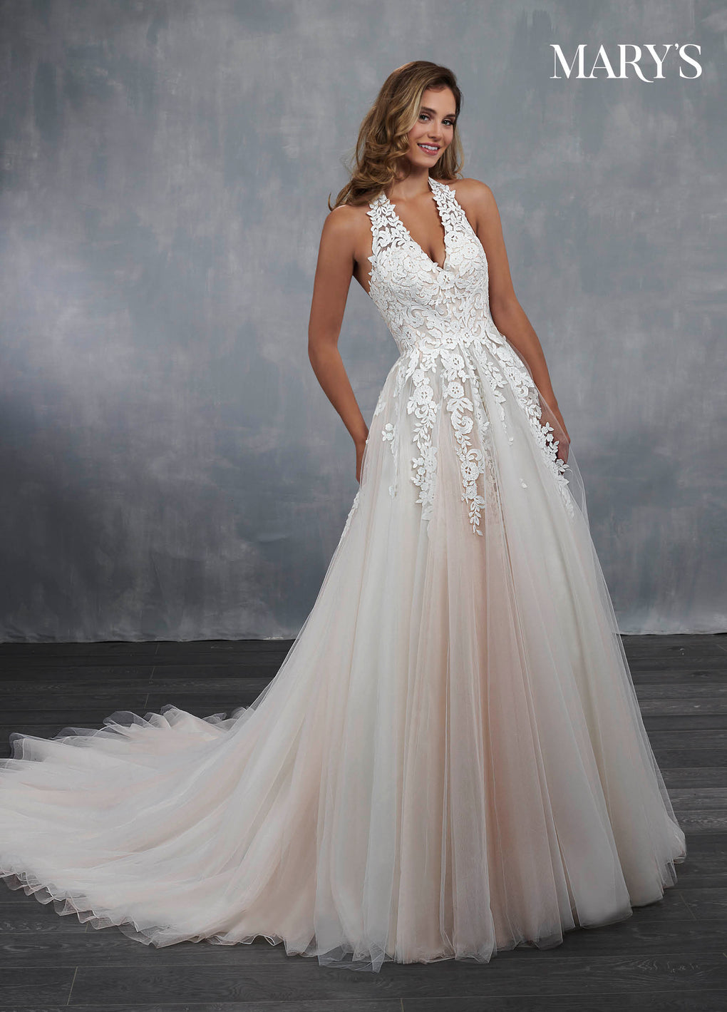 Bridal Wedding Dresses in Ivory/Blush, Ivory, or White Color