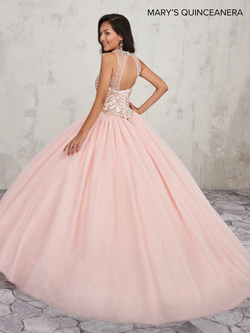 Marys Quinceanera Dresses in Blush or White Color