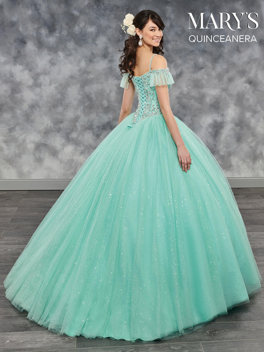 Marys Quinceanera Dresses in Burgundy, Magenta, Mint, Royal, or White Color