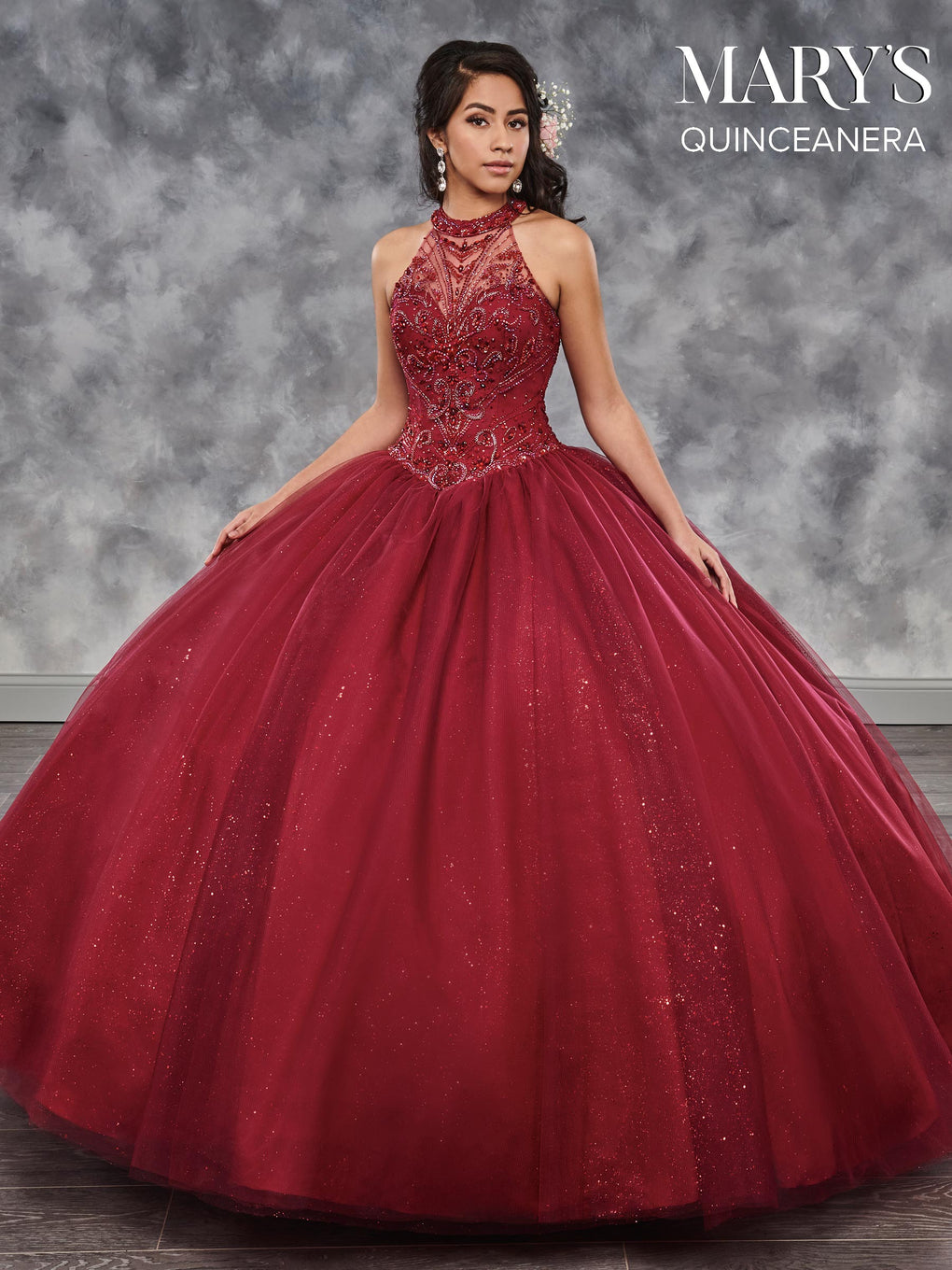 Marys Quinceanera Dresses in Navy, Wine, or White Color