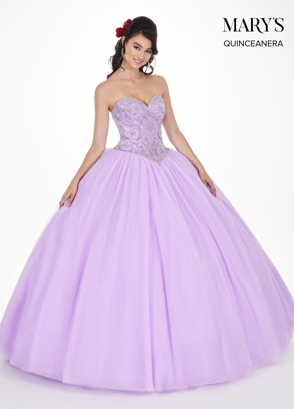 Marys Quinceanera Dresses in Lilac, Blush, or Burgundy Color