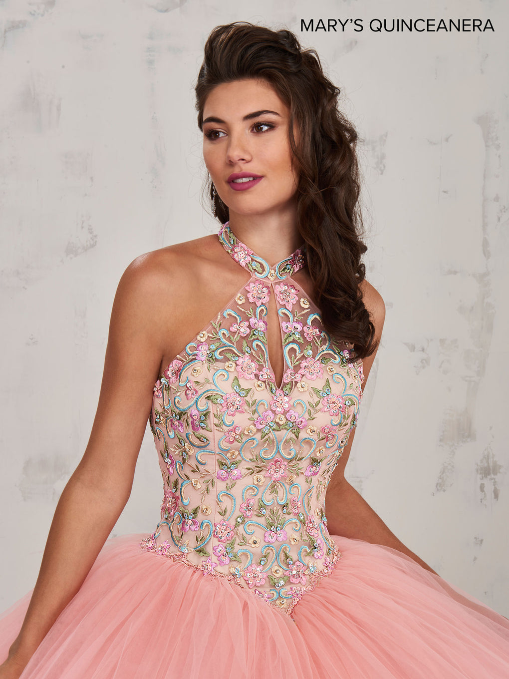 Marys Quinceanera Dresses in Pink/Champagne, Light Blue/Champagne, or White Color