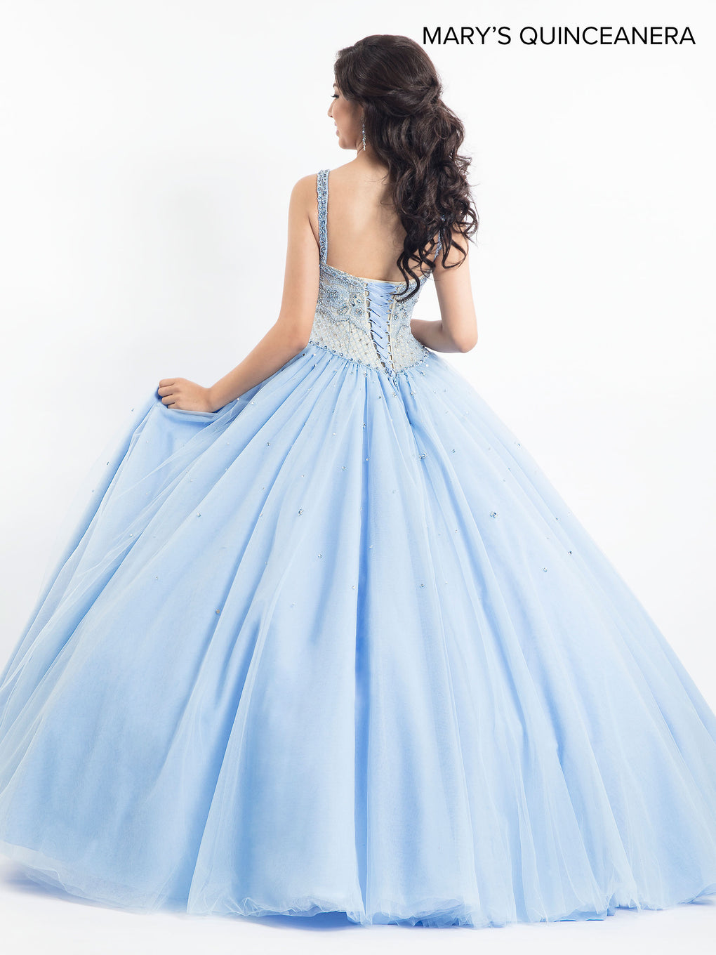 Marys Quinceanera Dresses in Light Blue, Pink, or Champagne Color