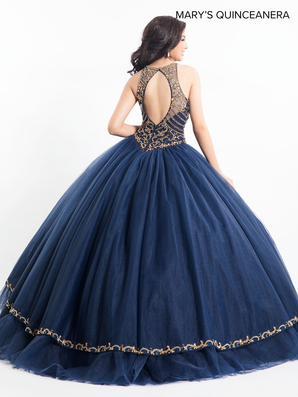Marys Quinceanera Dresses in Champagne, Navy, or Blush Color