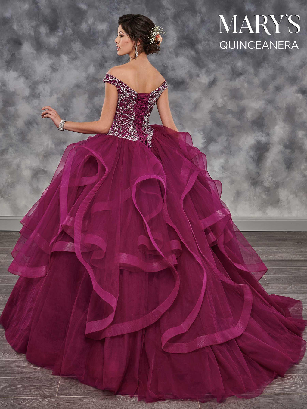 Marys Quinceanera Dresses in Champagne, Wildberry, or White Color