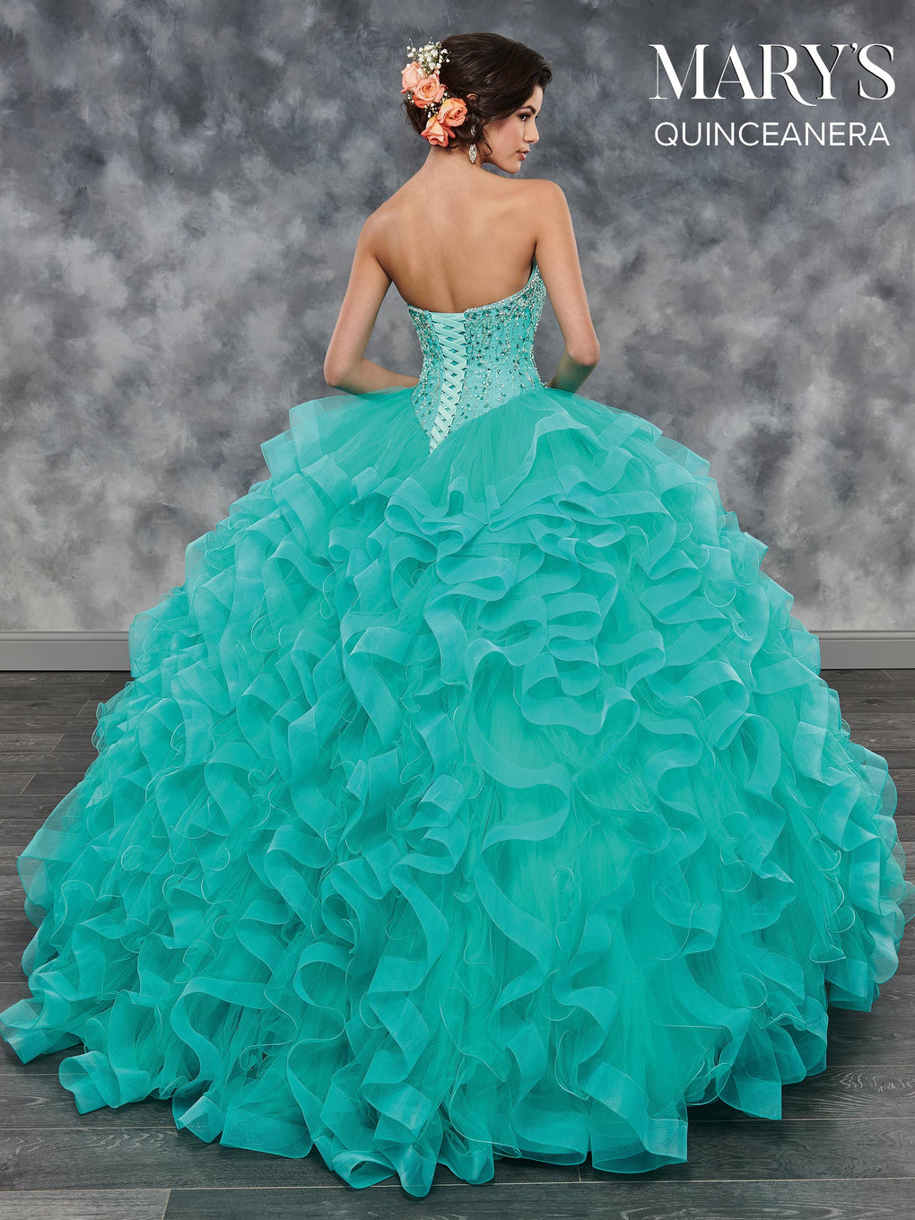 Marys Quinceanera Dresses in Champagne, Burgundy, Light Jade, or White Color