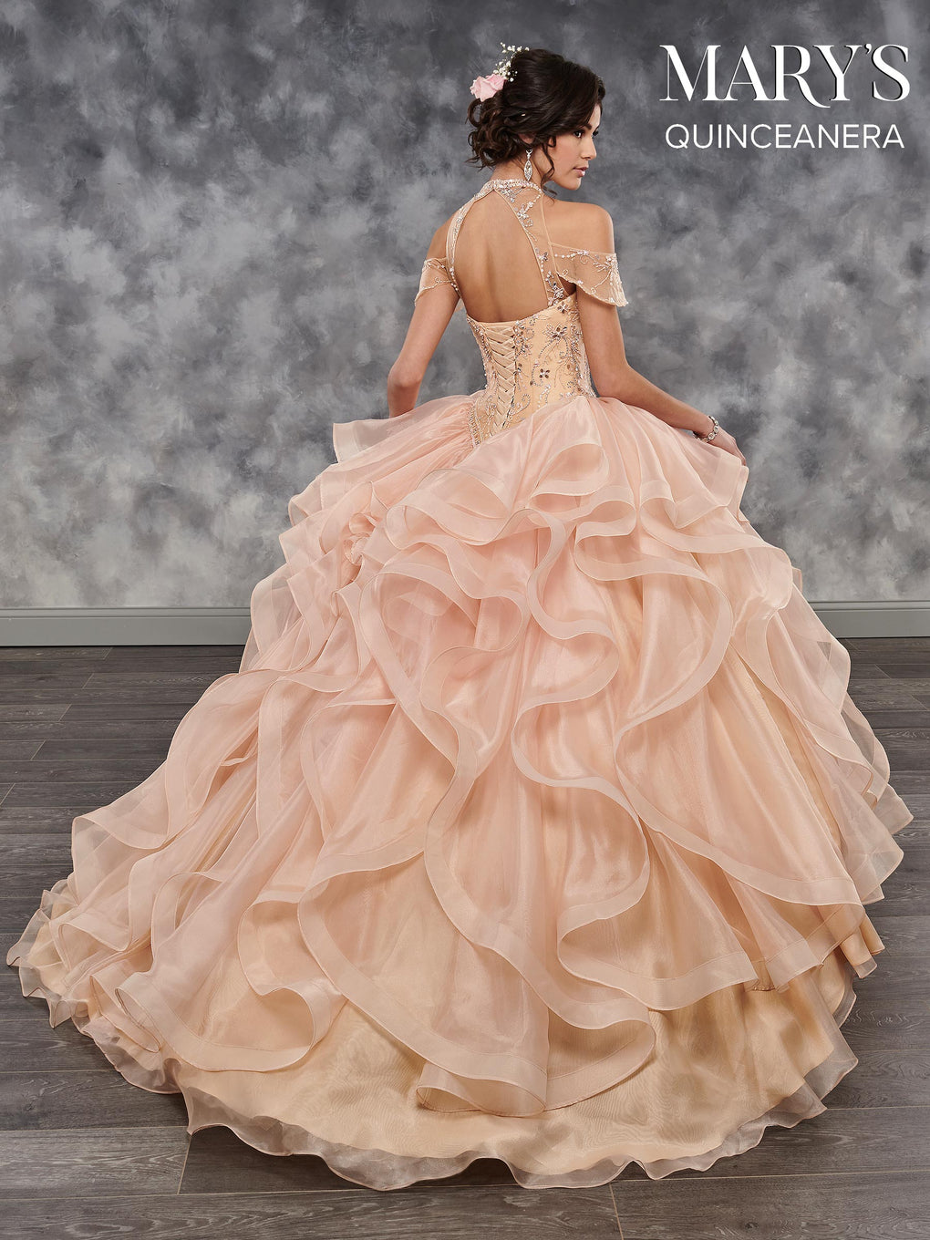 Marys Quinceanera Dresses in Cerise, Champagne, Royal, or White Color