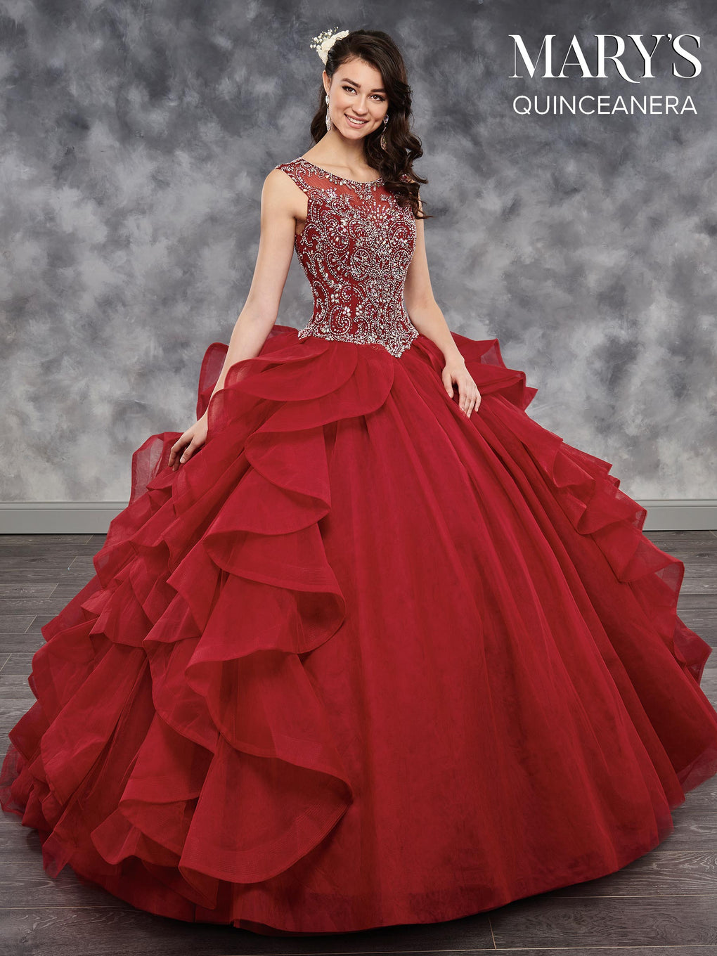 Marys Quinceanera Dresses in Deep Blush, Burgundy, Lavender, or White Color