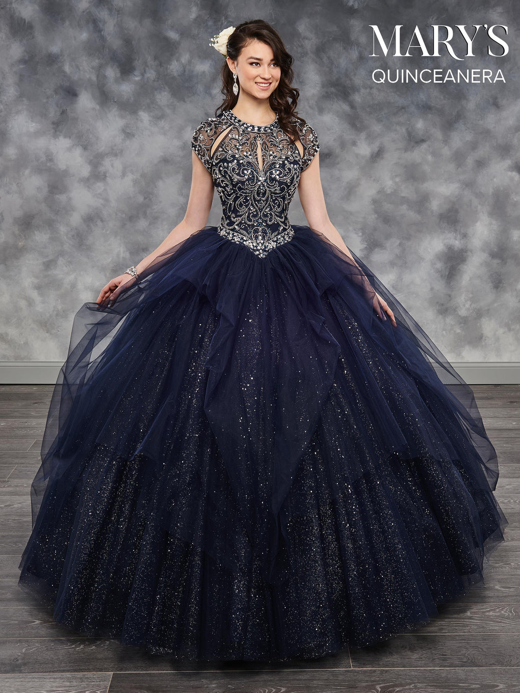 Marys Quinceanera Dresses in Blush, Champagne, Midnight Blue, or White Color