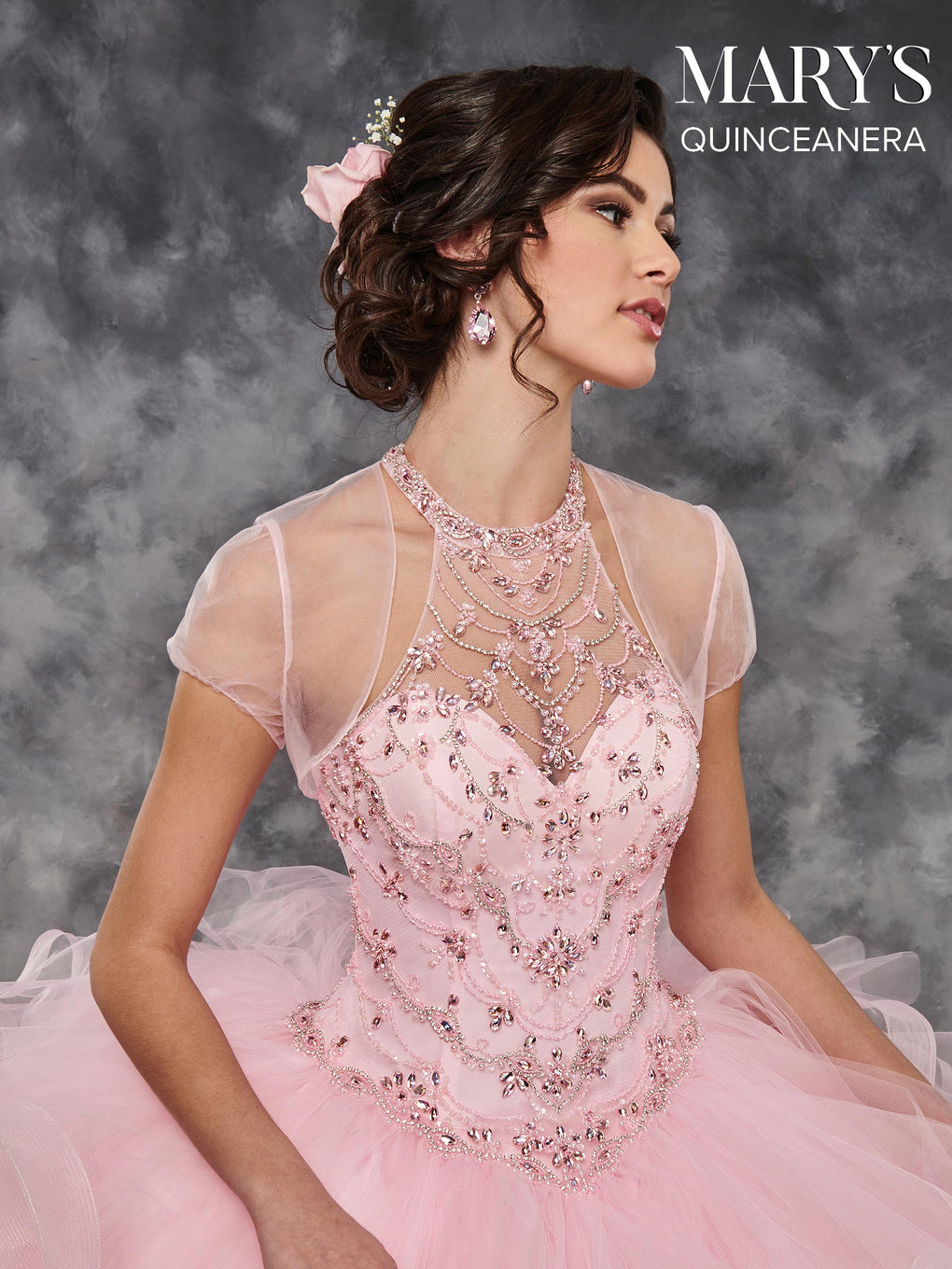 Marys Quinceanera Dresses in Aqua, Burgundy, Pink, or White Color