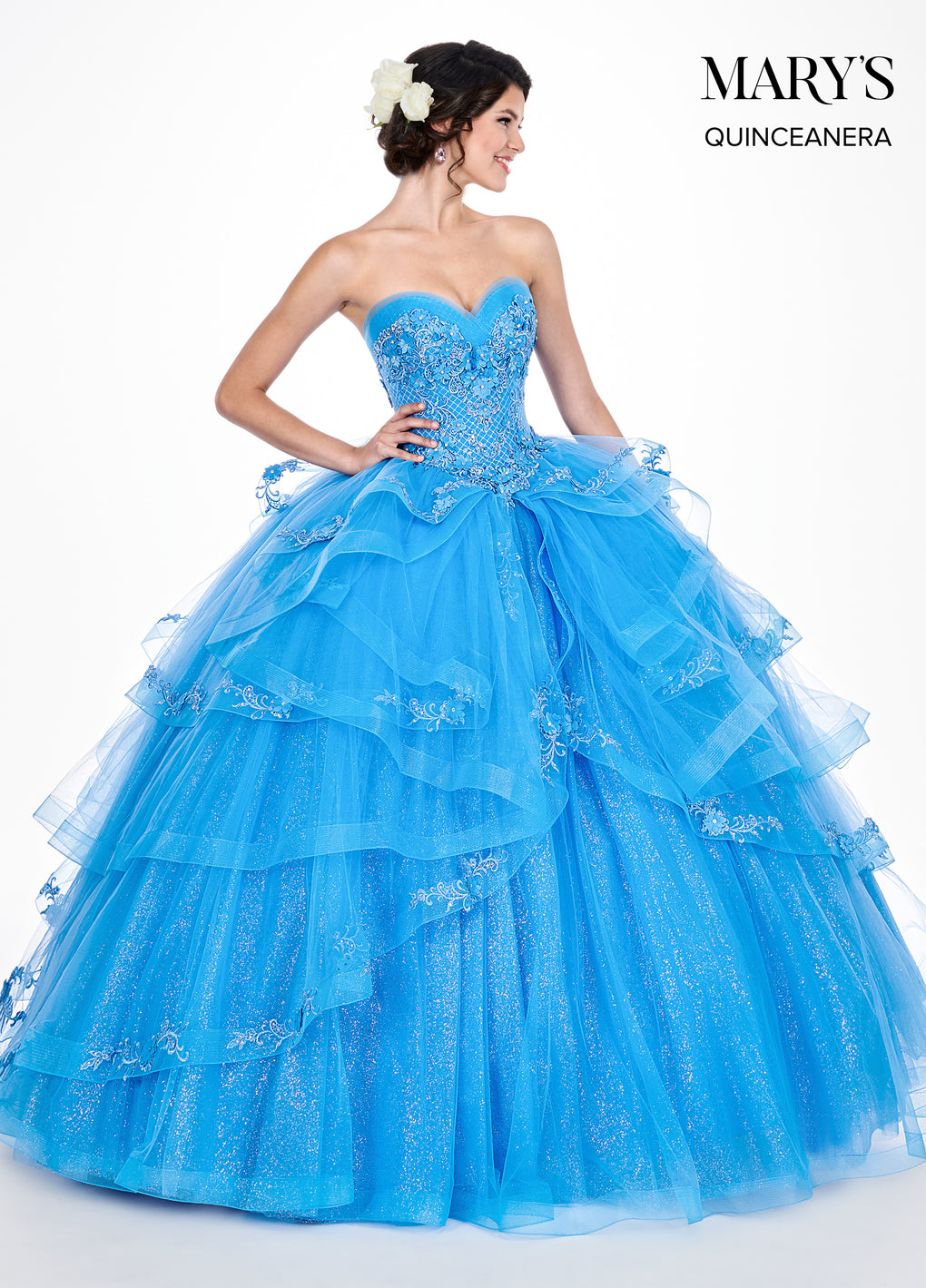Marys Quinceanera Dresses in Deep Blush or Periwinkle Color