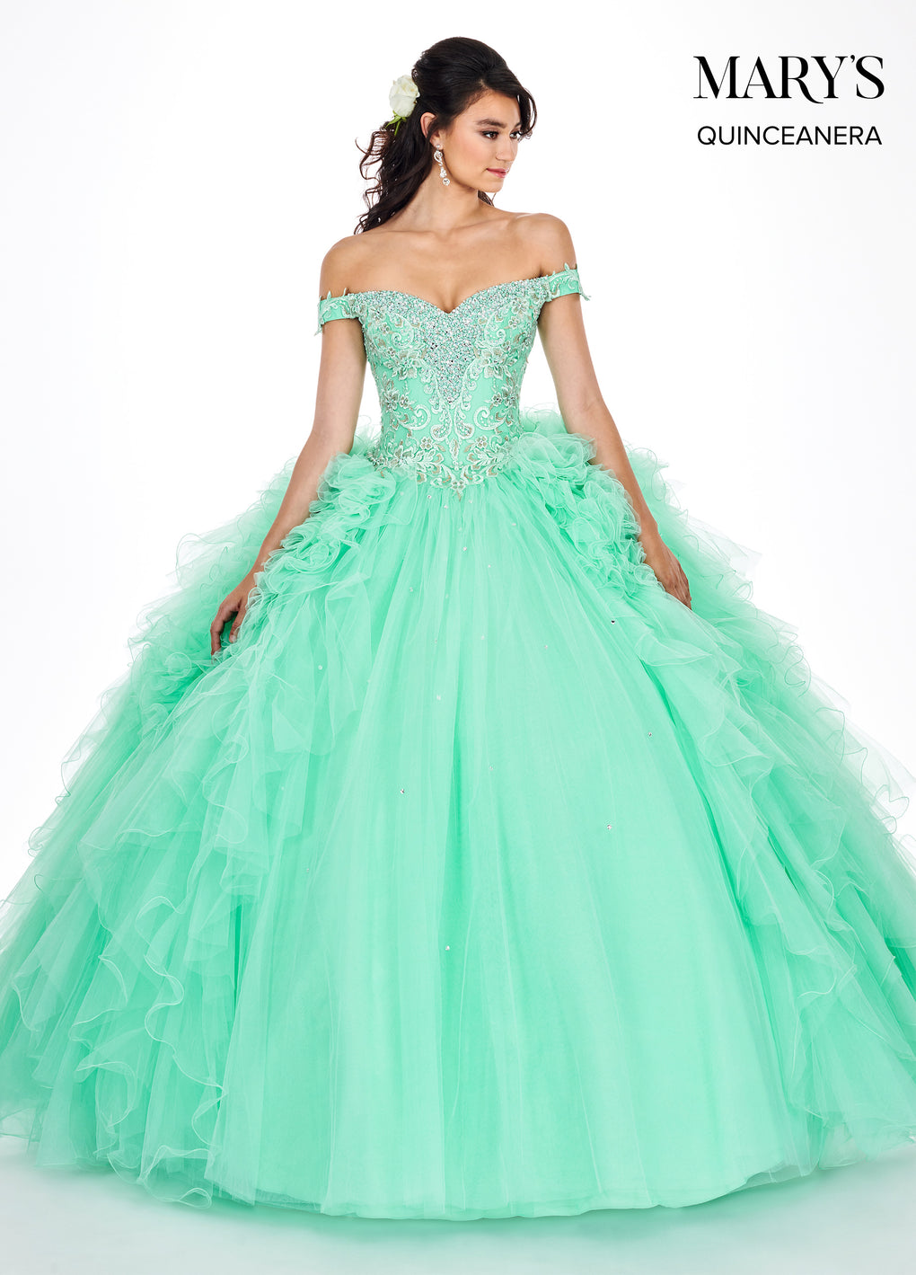 Marys Quinceanera Dresses in Violet, Mint, or Blush Color