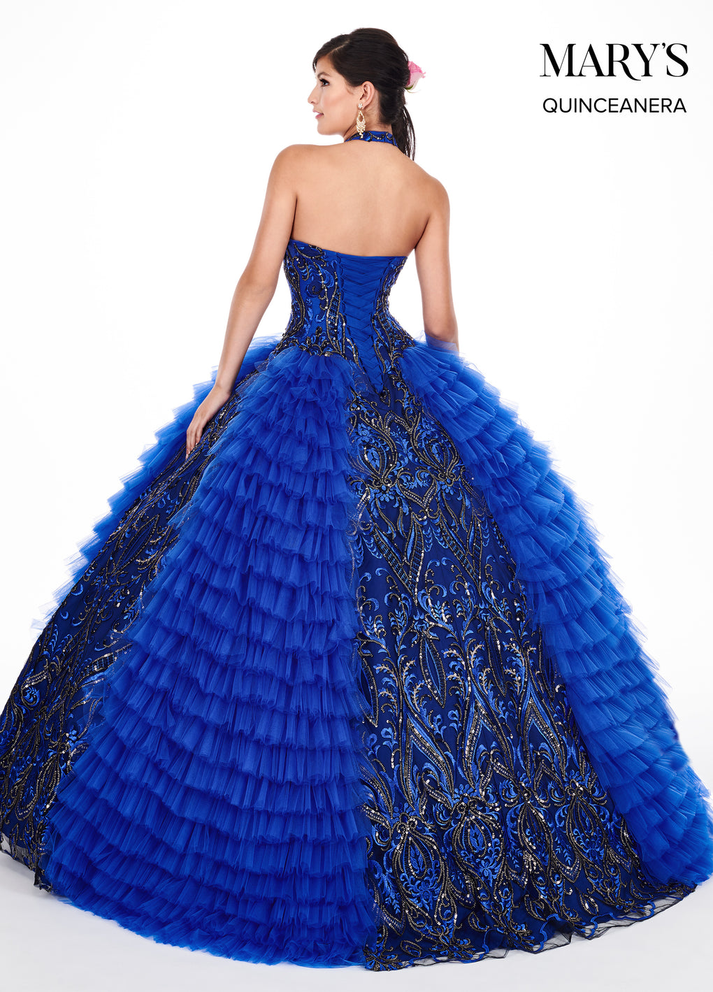 Marys Quinceanera Dresses in Royal/Gold or Berry/Black Color