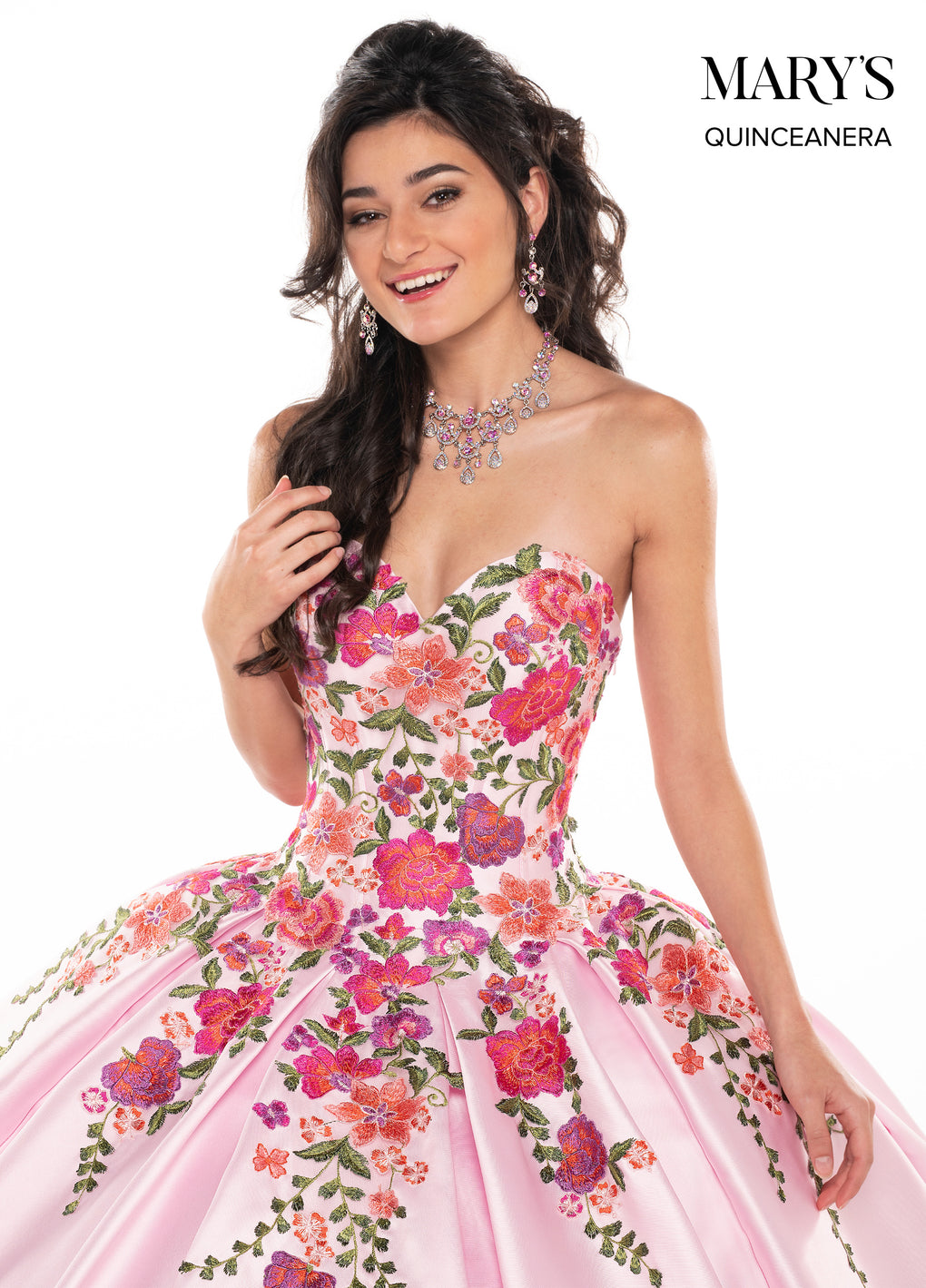 Marys Quinceanera Dresses in Gold/Multi or Pink/Multi Color