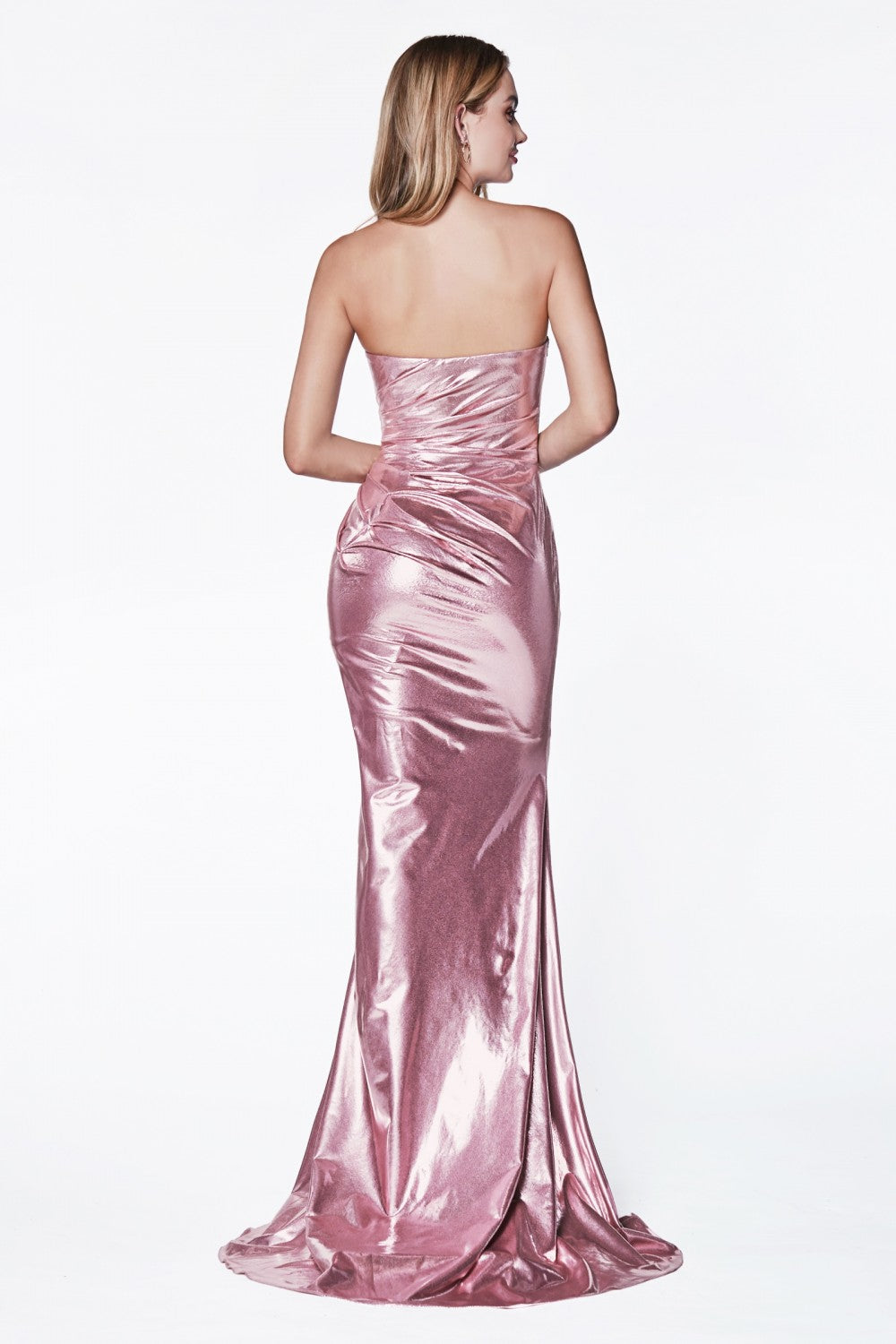 Strapless Fitted Gown With Sweetheart Neckline And Leg Slit