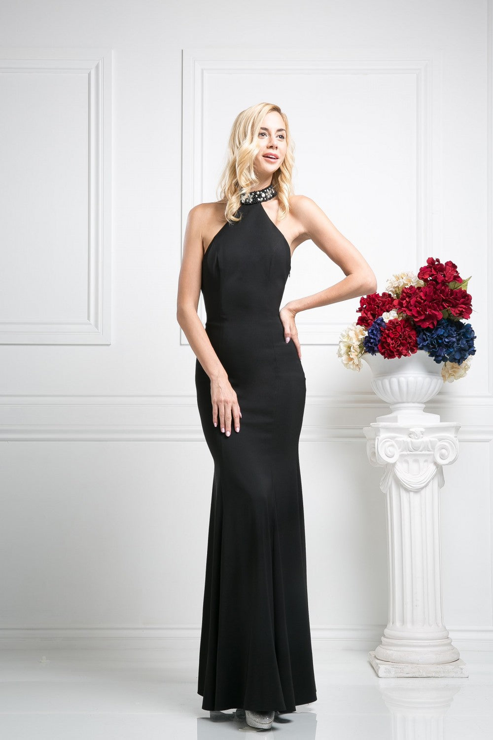 Sateen Sheath Gown