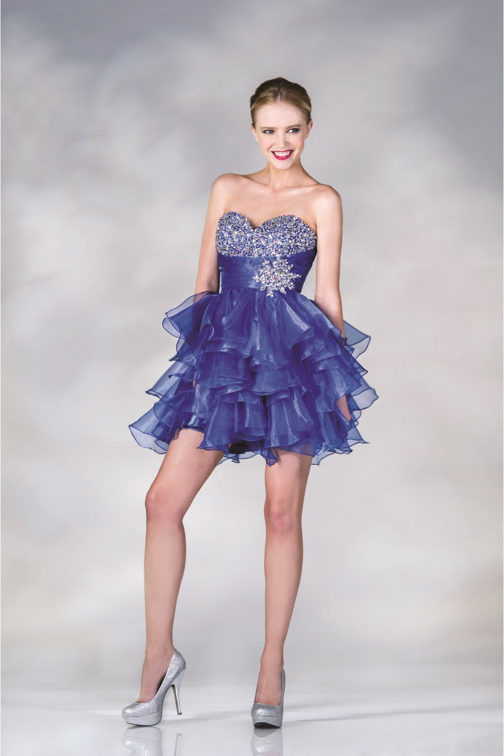 Beaded Tulle Short Dress
