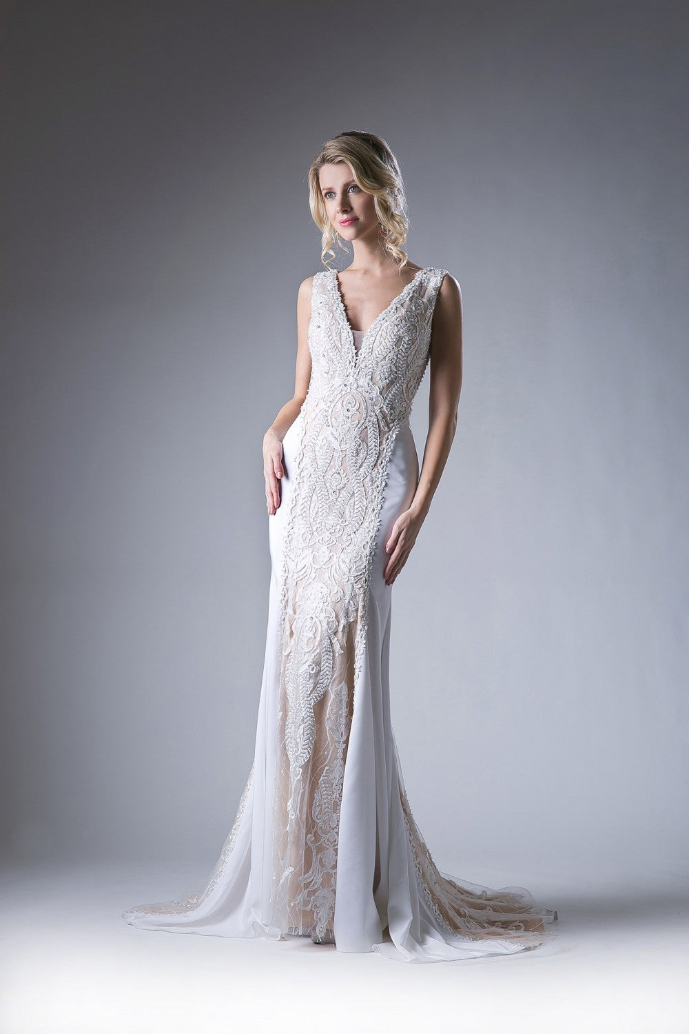 Lace Novelty Sheath Gown