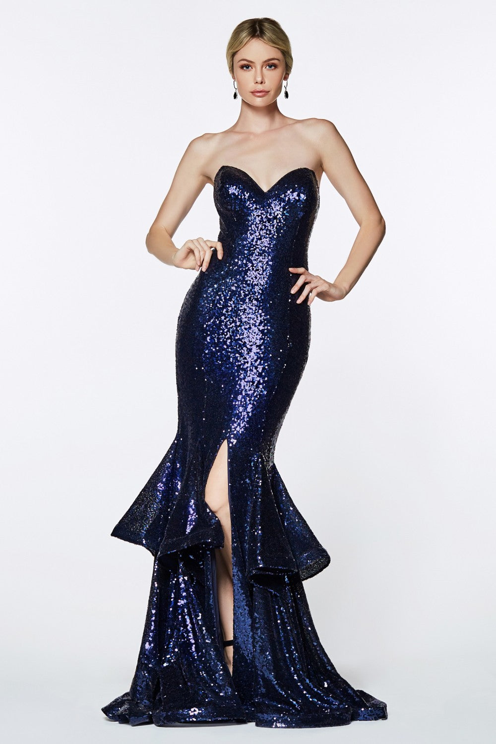 Sequin Sheath Gown