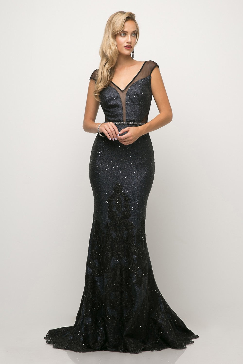 Beaded Lace Mermaid Gown